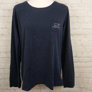 Vineyard Vines  Navy Blue Long Sleeve Shirt XL